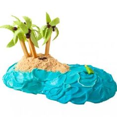 How to make a tropical birthday cake with vanilla wafers