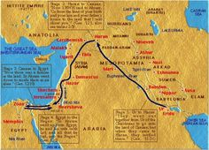 abraham's journey map - Google Search