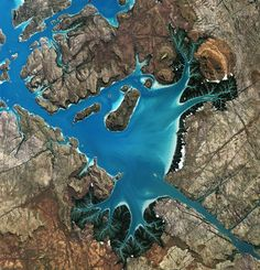 Saint George Basin Australia as seen from ALOS satellite [1849x1920]   landscape Nature Photos