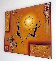 cuadros abstractos con textura - Buscar con Google Africa Painting, Africa Art, Simple Acrylic Paintings, Acrylic Art, African Artwork, Tribal Art, Box Art, Figure Painting, Art Prints