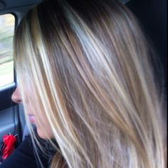 My hair that my awesome friend did.    Blonde highlights and brown lowlights
