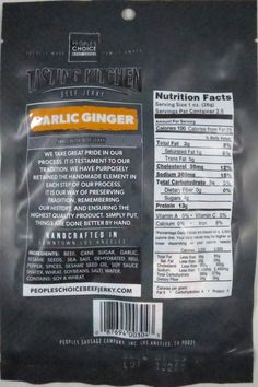 Discover how People's Choice Beef Jerky – Garlic Ginger beef jerky fared in a jerky review. http://jerkyingredients.com/2015/12/15/peoples-choice-garlic-ginger-beef-jerky/ @pcbeefjerky #peopleschoicebeefjerky #beefjerky #review #food #jerky #ingredients #jerkyingredients #jerkyreview #beef #paleo #paleofood #snack #protein #snackfood #foodreview #ginger #garlic #pcbeefjerky