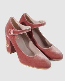 Zapatos de salón de mujer Lodi de terciopelo con tacón bordado Zapatos  Lodi c63da909144f
