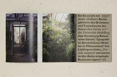 Interview at the Botanical Garden Heidelberg on Editorial Design Served