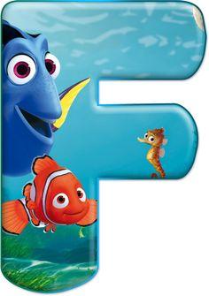 Alfabeto Decorativo Alfabeto Procurando Nemo 1 Png