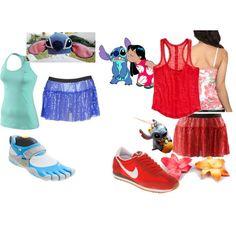 Stitch & Lilo! Run Disney! Love the shoes for Stich's costume!