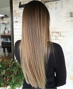 straight wavy blonde balayage ombre tresses in 2018. Black Bedroom Furniture Sets. Home Design Ideas