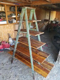 35 Essential Shelf Decor Ideas 2019 - 35 Essential Shelf Decor Ideas (A Guide to Style Your Home) # # - Ladder Display, Ladder Shelf Diy, Ladder Decor, Book Shelf Diy, Plant Ladder, Garden Ladder, Ux Design, Vintage Ladder, Antique Ladder
