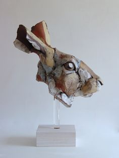 Nichola Theakston Ceramics - 'Large Hare Head Study'. Art Edition of 24. 50cm h x 38cm l.