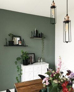 This amazing Dining Room lighting is an extremely inspirational and fabulous ide. This amazing Dining Room lighting is an extremely inspirational and fabulous idea bleu. LevisIKEA - KOLDBY, Cowhide, The . Feature Wall Living Room, Living Room Green, Living Room Colors, Home Living Room, Living Room Decor, Living Room Accent Wall, Kitchen Feature Wall, Green Dining Room, Accent Walls