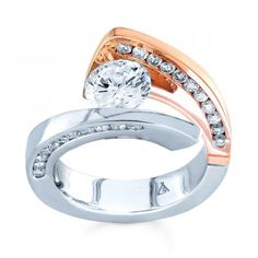 Ella's engagement ring  Two Tone Tension Engagement Ring Setting by Sareen Jewelry