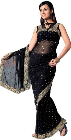 skirt style saree -you can wear a corset blouse