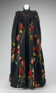 Charles-Frederick-Worth-Cloak-Tulipes-Hollandaises-textile-1889 - Mimi et Paul | Mimi et Paul