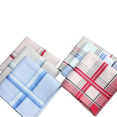 Classic Mens 100 Cotton Pocket Square Hanky Handkerchief 40x40CM * You can get more details by clicking on the image.