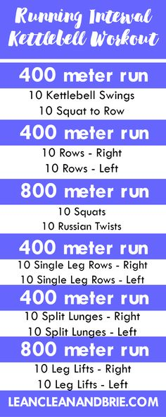 Running Interval Kettlebell Workout | Get in a quick workout that combines cardio and strength training all in one!| Lean, Clean, & Brie