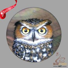 CREATIVE NECKLACE HAND PAINTED  OWL BIRD SHELL PENDANT ZP30 00283 #ZL #Pendant