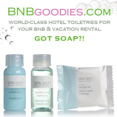 Luxury Hotel Toiletries For Your BNB And Vacation Rental! BNBgoodies.com Is Perfect for AirBNB RoomORama Wimdu Flipkey HomeAway VRBO Hosts And More!