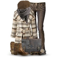 """""""Plaid for Fall"""" by cynthia335 on Polyvore"""