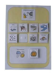 Amazon.com: Autism Supplies And Developments PECS Weather Board: Office Products