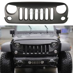 Matt Black Angry Bird Grid Grille Grill for 2007 14 08 Jeep Wrangler JK Rubicon
