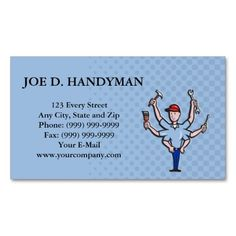 free business card templates for a handyman   Business & Careers ...