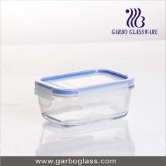 Transparent glass bowl with lid for home using for keeping fruit fresh