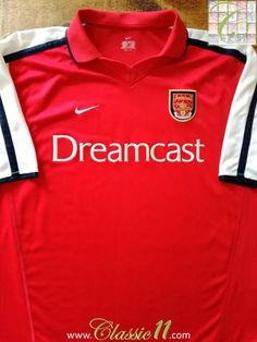 Official Nike Arsenal home football shirt from the 2000/2001 season.