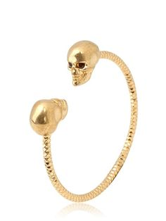 Twin Skull Bracelet by Alexander McQueen - LUISAVIAROMA - Free Shipping to the US http://moncler-online-shop.blogspot.com/  moncler clothing,