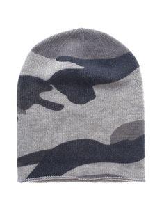 Rosa von Schmaus Cozy Camou Soft Grey Cashmere beanie in camouflage look - Accessories