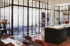 Steel and Glass room divider