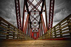 Walking bridge Fredericton N. O Canada, New Brunswick, George Washington Bridge, View Image, Golden Gate Bridge, Pathways, Travel Pictures, Cool Photos, Trail