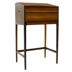 Svend Langkilde Rosewood Standing Desk, Secretary | From a unique collection of antique and modern secretaires at https://www.1stdibs.com/furniture/storage-case-pieces/secretaires/
