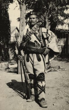 A Serbian chief dressed in full military uniform. - 1910s***