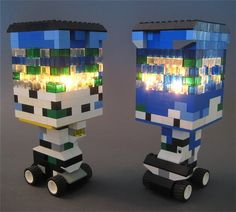 The LEGO Tea Light Lantern  These one-of-a-kind pieces are masterful, yet playful — and the lego lamps are all internally lit using LED Tea Light and free of any wires or cords…  http://www.amazon.com/BEST-FLAMELESS-TEA-LIGHTS-Pack/dp/B00HAQUI4A/ref=cm_cr_pr_product_top