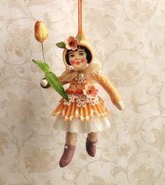 Garden Sprite spun cotton doll