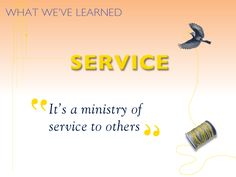 Hospice is a ministry of service to others. #hospicelessons