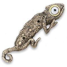Bronze Chameleon Doorbell
