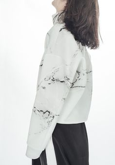 Marble sweatshirt-wh