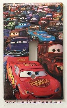 Disney Cars Lightning McQueen Light Switch Cover Plate via McDullUSA