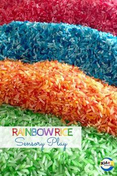 Rainbow Rice Sensory Play Benefits