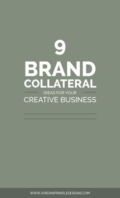 9 Brand Collateral Ideas For Your Creative Business | Branding goes far past logos, color palettes and pairing fonts. It's icons, media kits, business cards and much more! See the full list at www.jordanprindledesigns.com