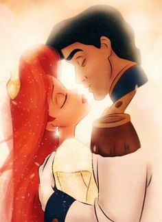 Day 5: My favorite kiss is when Ariel and Eric kiss because the whole movie has kind of led up to this point. (The Little Mermaid)