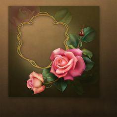 "♥Jaguarwoman's ""Downton Rose"" Frame"