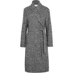 T by Alexander Wang Wool-blend bouclé coat (7 240 SEK) ❤ liked on Polyvore featuring outerwear, coats, coats & jackets, jackets, wool blend coat, t by alexander wang coat, oversized boucle coat, oversized coat and t by alexander wang