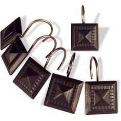 Better Homes And Gardens Oil Rubbed Bronze Set Of 12 Shower Curtain Hooks