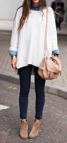 Oversized sweater fall outfit