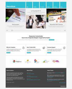 MetroStyle Responsive All Purpose Wordpress Theme - ThemeForest Previewer