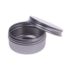 50ml Small Aluminium Balm Tin Pot Nail Art Makeup Lip Gloss Container Screw Thread *** Click on the image for additional details.