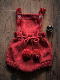 PDF Knitting Pattern Ember Baby Romper Dress and Bonnet Baby Knitting Patterns, Baby Clothes Patterns, Baby Patterns, Clothing Patterns, Knitted Baby Clothes, Knitted Romper, Knitted Hats, Girls Knitted Dress, Baby Knits