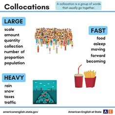 Collocations: Large / Heavy / Fast